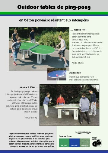 Outdoor tables de ping-pong - Maillith