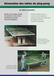 Rénovation des tables de ping-pong - Maillith