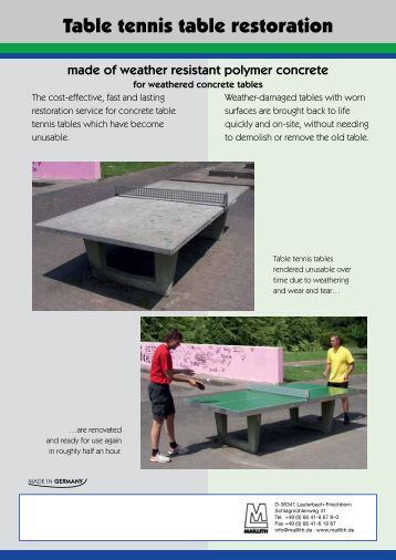 Flyer Table tennis table restoration - Maillith