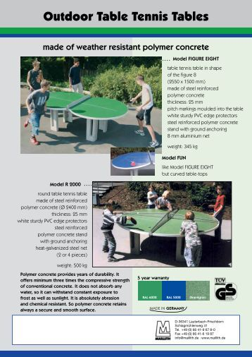 Outdoor Table Tennis Tables - Maillith