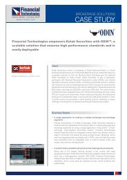 ODIN case study Kotak - Financial Technologies