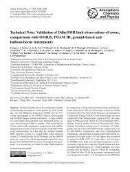 Technical Note: Validation of Odin/SMR limb observations of ozone ...