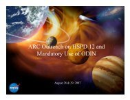 ARC Outreach on HSPD 12 and Mandatory Use of ODIN - SpaceRef