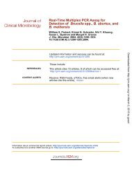 Real-Time Multiplex PCR Assay for Detection - Journal of Clinical ...