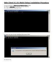 Odin Client 9.1.0.5 Batch Setup Installation Procedure - India Capital ...