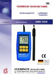 Greisinger GMH 3430 - Greisinger electronic GmbH