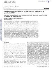 Multiplex digital PCR - Gene Quantification Page Directory