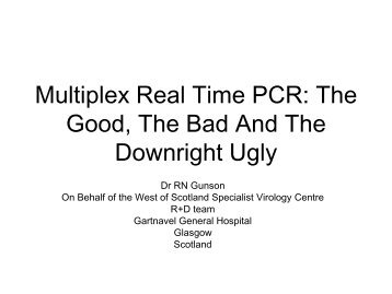 Multiplex real time PCR: pro's and con's - NIBSC