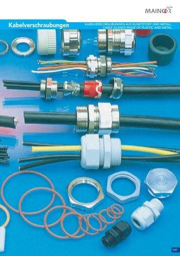 Kabelverschraubungen aus Kunststoff und Metall