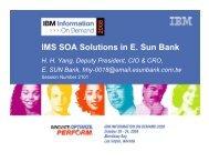 IMS SOA Solutions in E. Sun Bank - IBM