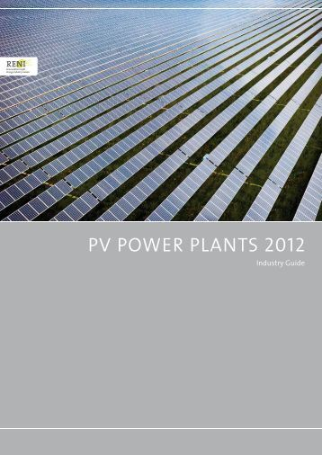 Industry Guide - PV Power Plants 2012