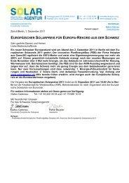 Medienmitteilung Europäischer Solarpreis 2011 - Solar Agentur ...