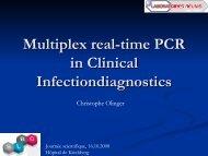 Multiplex PCR in clinical diagnostics - SLBC