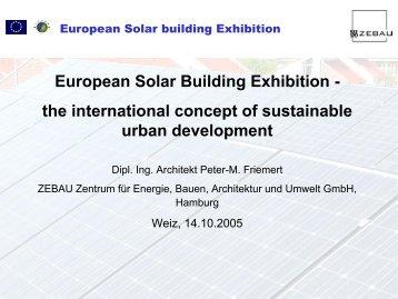European Solar Building Exhibition - the international concept of ...