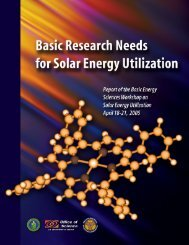 Basic Research Needs for Solar Energy Utilization - Office of ...