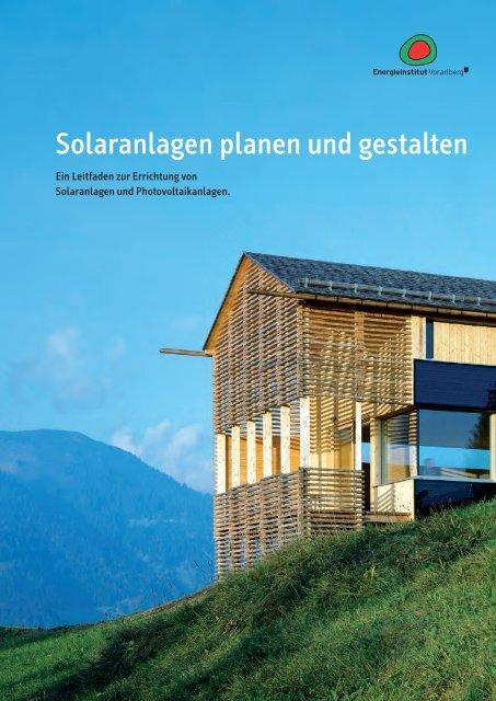 Solaranlagen planen und gestalten - Hittisau