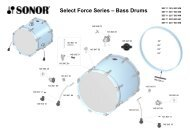 Select Force Series – Bass Drums - Sonor
