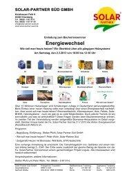 Einladung-Anmeldung - Solar Partner