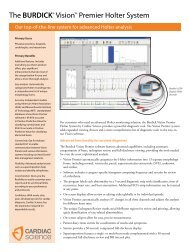 Vision Premier Holter Software - Cardiac Science