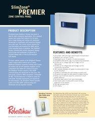 SlimZone Premier Zone Control Panels - Robertshaw Thermostats