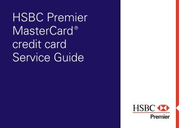 HSBC Premier MasterCard® credit card Service Guide