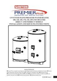 premier plus 250 and 300 instructions - Manuals