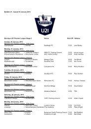 Bulletin 21 - Issued 18 January 2013 Barclays U21 Premier League ...