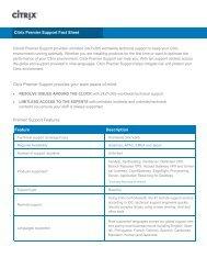 Citrix Premier Support Fact Sheet Citrix Premier Support provides ...
