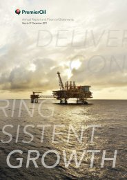 Premier Oil plc 2011 Annual Report