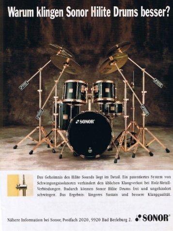 Wamm klingen Sonor Hilite Drums besser?