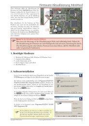 Firmware-Aktualisierung MiniMod de.pdf - Maintech.de