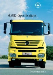 AXOR - Specifications (1652 KB, PDF) - Mercedes-Benz South Africa