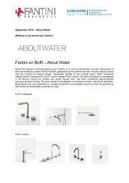 Fantini en Boffi – About Water - Burgmans Sanitair BV