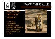 WWF's TIGERS ALIVE! - Global Tiger Initiative