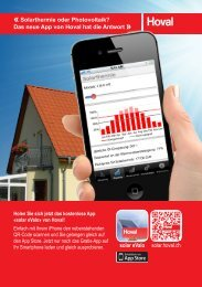 «Solarthermie oder Photovoltaik? Das neue App ... - Hoval Herzog AG