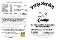 Ihr Partyservice-Team Grothe - beim Partyservice Grothe