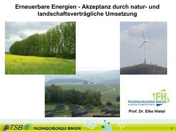 Prof. Dr. Elke Hietel - Erneuerbare Energien? Akzeptanz durch