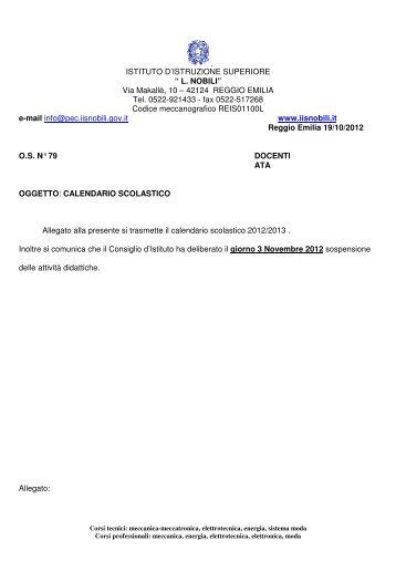 Calendario scolastico 2012 2013.pdf - IIS L.Nobili