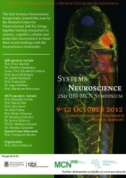 Program - Munich Center for NeuroSciences - Brain and Mind - LMU