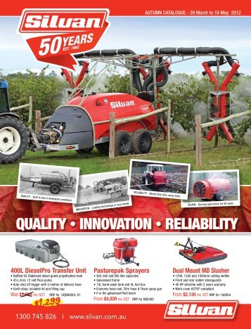 QUALITY • INNOVATION • RELIABILITY - Silvan Australia