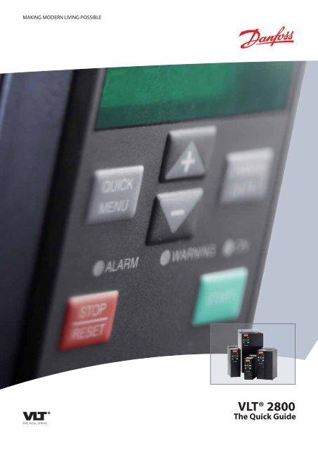 Danfoss Vlt 2800 Drives Quick Guide Cti Automation