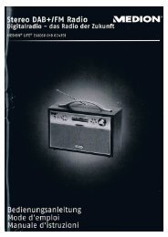MEDION Stereo DAB+ / FM Radio MD 82439 - jrac.de