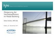 2011-11-23 Steigerung der Vertriebseffizienz im Retail Banking - HPO