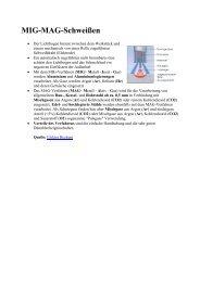 Lichtbogenarten und Werkstoffübergang beim MIG/MAG Schweißen