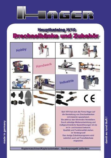 Aktueller HAGER Katalog 2010 hier herunterladen - Drechslergalerie