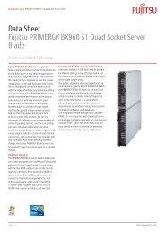 Data Sheet Fujitsu PRIMERGY BX960 S1 Quad Socket Server Blade