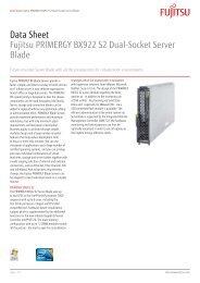 Data Sheet Fujitsu PRIMERGY BX922 S2 Dual-Socket Server Blade