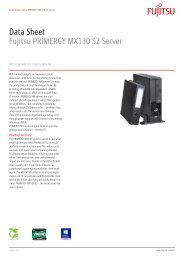 Data Sheet Fujitsu PRIMERGY MX130 S2 Server