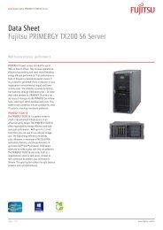 Data Sheet Fujitsu PRIMERGY TX200 S6 Server