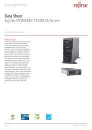 Data Sheet Fujitsu PRIMERGY TX300 S6 Server